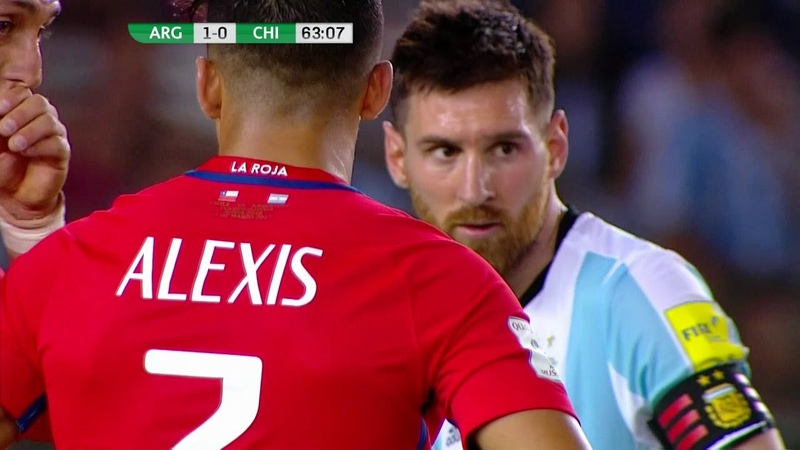 Alexis Sanchez vs Argentina (Away) 16-17 HD 720p (23032017) - English Commentary