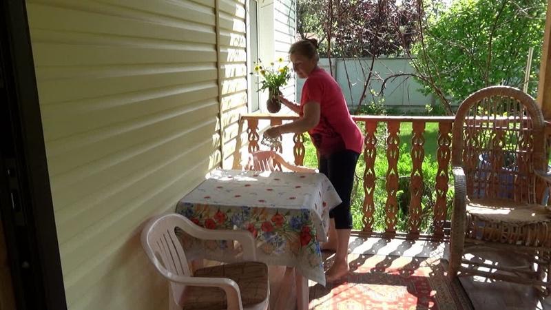 Наша ТЕРРАСА как устроена Отвечаю на вопросы и убираюсь на любимой веранде Майский сад в цвету