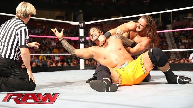 The Usos vs. Heath Slater Drew McIntyre: Raw, Nov. 4, 2013