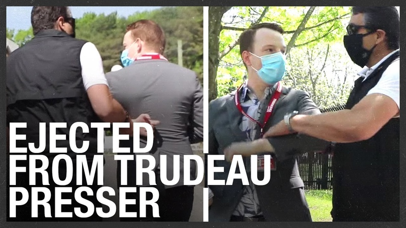 RCMP grabbed Rebel reporter just before Trudeau s presser Dragged out by cops FULL VIDEO