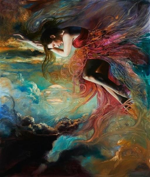 Американская художница Джулия Белл известна своими картинами в жанре фэнтези