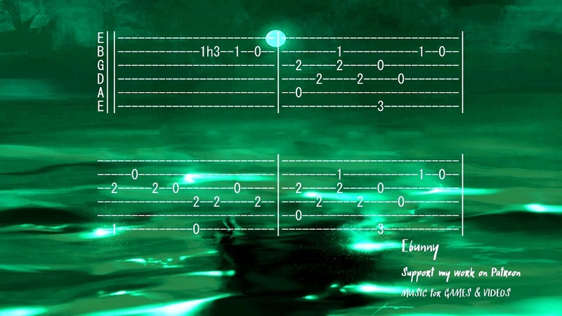 Celtic Medieval Music Tri Martolod Inis Mona Full Acoustic Guitar Tab by Ebunny Fingerstyle