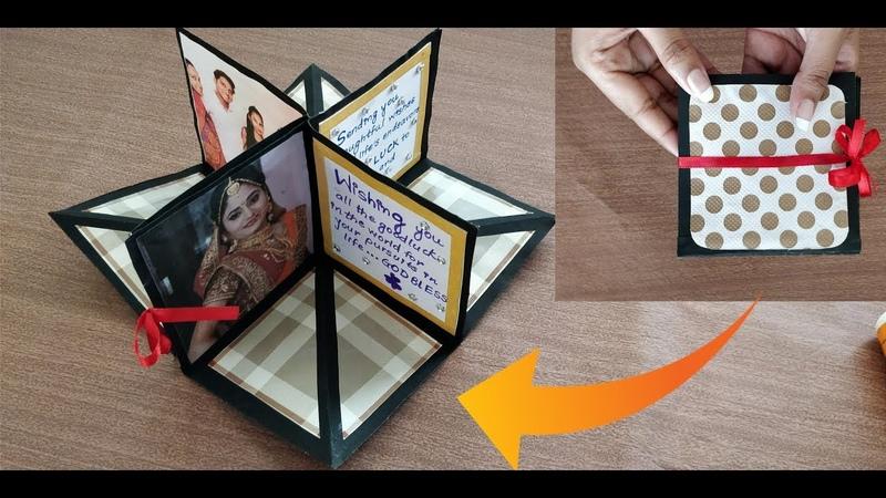 DIY square circular pop up greeting card crafts villa