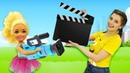 Маленькие Барби снимают кино - Смешные мультики Барби куклы для девочек
